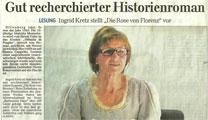 Lesung Die Rose von Florenz Artikel Dill-Post 26.03.14
